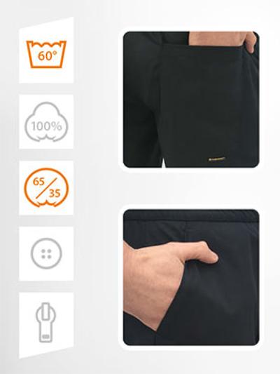 Kuharske hlače na gumicu crne KASPAR