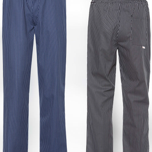 Kuharske hlače na gumicu prugaste CARLO