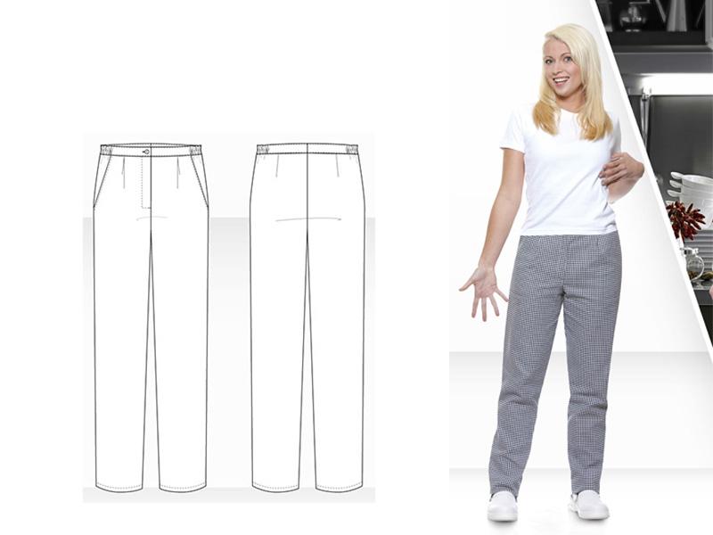 Ženske kuharske hlače ANNEMARIE
