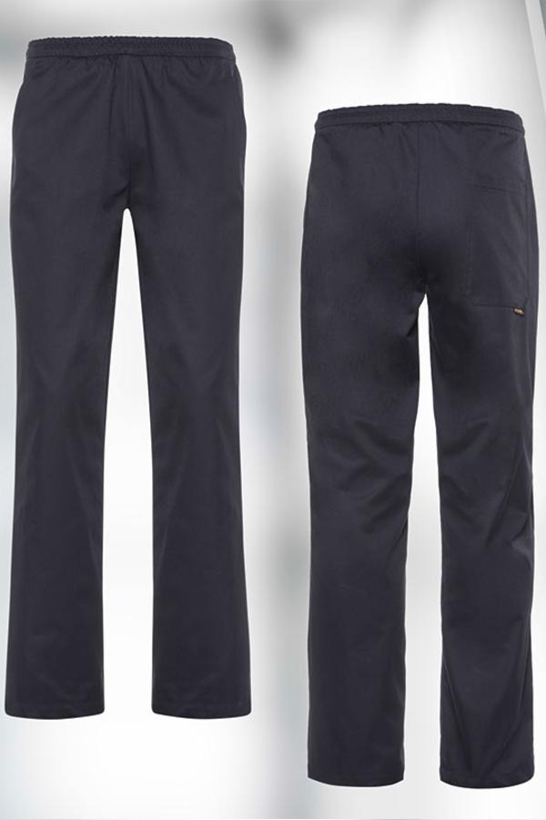 Muške hlače na gumicu crne KASPAR